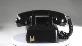 παλαιό τηλέφωνο ύφους απόθεμα βίντεο