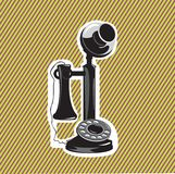 παλαιό τηλέφωνο διανυσματική απεικόνιση
