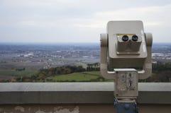 Παλαιό τηλεσκόπιο με τα νομίσματα Στοκ Φωτογραφίες