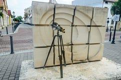 Παλαιό τηλεσκόπιο στην οδό από την πόλη της Alba Iulia από τη Ρουμανία, Στοκ Εικόνες