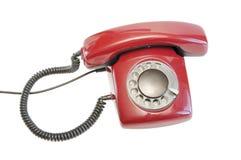 παλαιό τηλεφωνικό κόκκινο Στοκ φωτογραφία με δικαίωμα ελεύθερης χρήσης