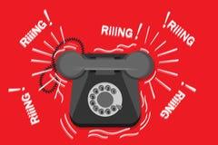 παλαιό τηλεφωνικό χτύπημα απεικόνιση αποθεμάτων