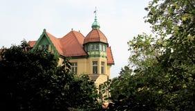 Παλαιό τοπικό ύφος κτηρίου σε Cottbus Γερμανία Στοκ Φωτογραφίες