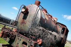 παλαιό τραίνο ατμού μηχανών Στοκ εικόνα με δικαίωμα ελεύθερης χρήσης