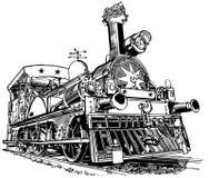 Παλαιό τραίνο ατμού διανυσματική απεικόνιση
