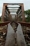 παλαιό τραίνο γεφυρών Στοκ Εικόνα