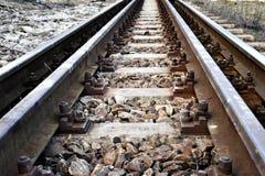 παλαιό τραίνο διαδρομών Στοκ Εικόνα