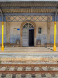 παλαιό τραίνο σταθμών Στοκ Εικόνα