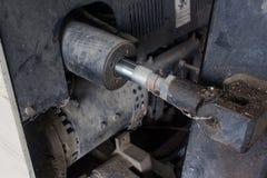 Παλαιό υδραυλικό σύστημα forklift του φορτηγού Στοκ Εικόνα