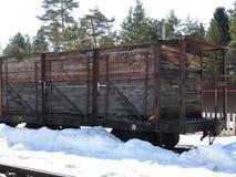 Παλαιό υπαίθριο μουσείο Pereslavl ατμού κινητήριο το χειμώνα, Ρωσία στοκ φωτογραφίες