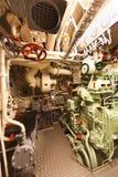 Παλαιό υποβρύχιο διαμέρισμα μηχανών diesel Στοκ Φωτογραφίες