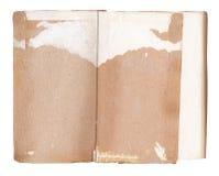 Παλαιό υπόβαθρο βιβλίων και κενές σελίδες που απομονώνονται στο λευκό Στοκ Φωτογραφίες