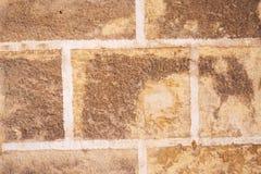 Παλαιό υπόβαθρο τουβλότοιχος, σύσταση Τραχιά πρόσοψη με την επιφάνεια Brickwall Στοκ εικόνες με δικαίωμα ελεύθερης χρήσης