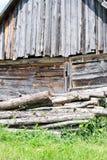 παλαιό υπόστεγο ξύλινο Στοκ Εικόνες