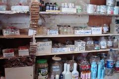 Παλαιό φαρμακείο στην Ονδούρα, Botica στοκ φωτογραφία με δικαίωμα ελεύθερης χρήσης