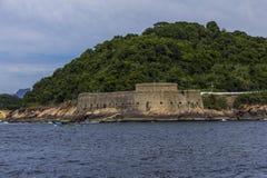 Παλαιό φρούριο Φορταλέζα de Santa Cruz, Ρίο ντε Τζανέιρο, Βραζιλία Στοκ Φωτογραφία