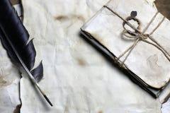 Παλαιό φτερό επιστολών εγγράφου Στοκ Φωτογραφίες