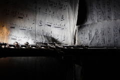 παλαιό φύλλο μουσικής φ&lambda Στοκ φωτογραφίες με δικαίωμα ελεύθερης χρήσης