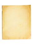 παλαιό φύλλο σημειωματάρ&iot στοκ φωτογραφίες