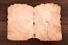 Παλαιό φύλλο του εγγράφου στοκ φωτογραφίες
