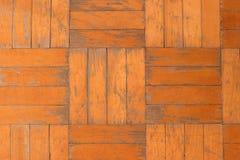 Παλαιό χαλασμένο ξύλινο παρκέ σύσταση Στοκ Εικόνα
