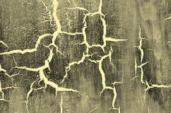 Παλαιό χαλασμένο ραγισμένο χρωμάτων, γκρίζου και κίτρινου χρώμα τοίχων, υποβάθρου Grunge Στοκ φωτογραφία με δικαίωμα ελεύθερης χρήσης