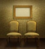 παλαιό χρυσό δωμάτιο εδρών Στοκ εικόνες με δικαίωμα ελεύθερης χρήσης