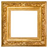 Παλαιό χρυσό πλαίσιο πέρα από το λευκό Στοκ Φωτογραφίες
