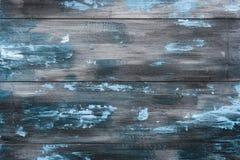Παλαιό χρωματισμένο μπλε και γκρίζο ξύλινο υπόβαθρο Παλαιές ξύλινες σανίδες φρακτών Στοκ εικόνες με δικαίωμα ελεύθερης χρήσης