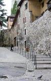 παλαιό χωριό βημάτων στοκ εικόνες
