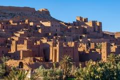 Παλαιό χωριό ενίσχυση-Ben-Haddou στο Μαρόκο στοκ φωτογραφία
