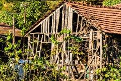 παλαιό χωριό σπιτιών Στοκ Εικόνα