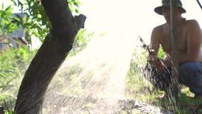 Παλαιό χύνοντας δέντρο ατόμων απόθεμα βίντεο