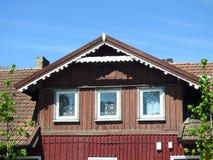 Παλαιό όμορφο σπίτι σε Silute, Λιθουανία στοκ φωτογραφία με δικαίωμα ελεύθερης χρήσης