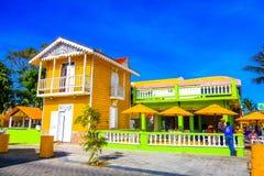Παλαιό όμορφο σπίτι ύφους σε Puerto Plata, Δομινικανή Δημοκρατία Στοκ Φωτογραφία