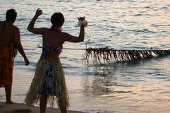 παλαιό ύφος αλιείας Χαβάη Στοκ φωτογραφία με δικαίωμα ελεύθερης χρήσης