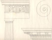 παλαιό ύφος της Ελλάδας αρχιτεκτονικής Ελεύθερη απεικόνιση δικαιώματος