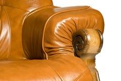παλαιό armrest πολυθρόνων δέρμα Στοκ Φωτογραφία