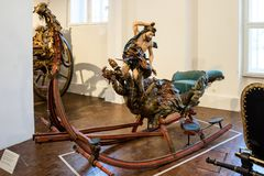 Παλαιό figural έλκηθρο στο Marstallmuseum στοκ φωτογραφία με δικαίωμα ελεύθερης χρήσης