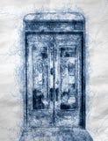 Παλαιό llustration πορτών στοκ εικόνα με δικαίωμα ελεύθερης χρήσης