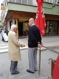 παλαιό man& x27 s που συζητά, Σαράγεβο, Βοσνία Στοκ φωτογραφία με δικαίωμα ελεύθερης χρήσης