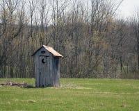 παλαιό outhouse Στοκ Φωτογραφίες