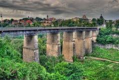 παλαιό podilskyi γεφυρών kamianets Στοκ Φωτογραφίες
