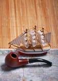 παλαιό sailboat χαρτών στοκ εικόνες