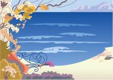 παλαιό seacoast πεζούλι διανυσματική απεικόνιση