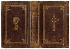 παλαιό songbook δέρματος 1890 Στοκ Εικόνες