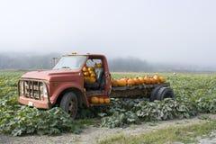 Παλαιό truck στο αγρόκτημα κολοκύθας Στοκ φωτογραφία με δικαίωμα ελεύθερης χρήσης