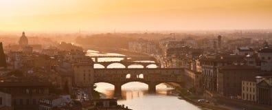 παλαιό vecchio ponte της Φλωρεντίας &Io Στοκ φωτογραφία με δικαίωμα ελεύθερης χρήσης