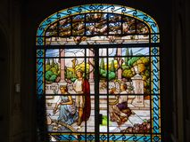Παλαιό vitral πλαίσιο στοκ φωτογραφία