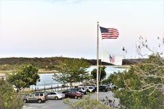 Παλιρροιακή στάθμευση επισκεπτών εκβολών Long Island της Νέας Υόρκης Στοκ Εικόνες